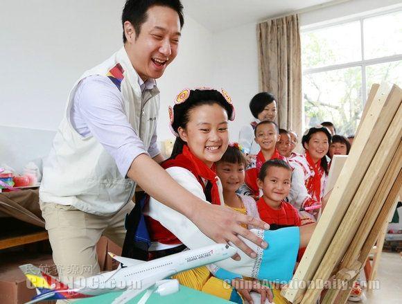 韩亚航空捐资助丽江贫困地区小学生入驻新校舍