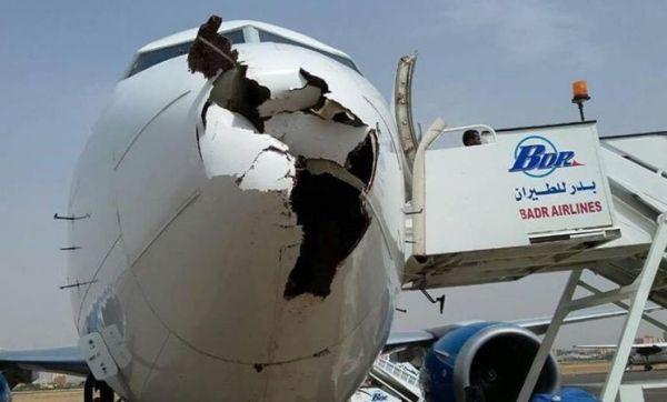 """飞机起飞后遭遇严重鸟击 雷达罩破个""""大洞"""""""