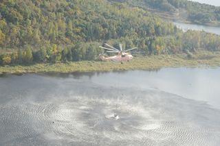 北方航空护林系统伊春站秋航护林飞机全部就位