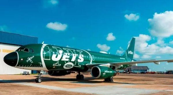 捷蓝航空推出纽约喷气机队主题涂装A320飞机