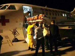 """张掖机场保障空中""""ICU""""  为伤员架起生命桥梁"""