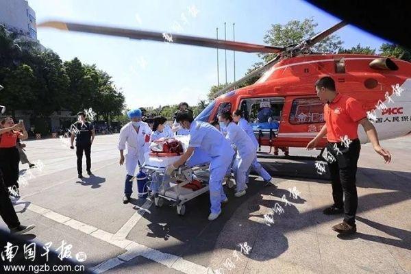 患者打飞的从横县转运到南宁!广西空中救援开通