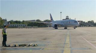 国航地服部保障美航转场首都机场T2首架航班