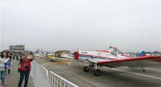 55种机型近百架飞机展出 四川航展在广汉开幕
