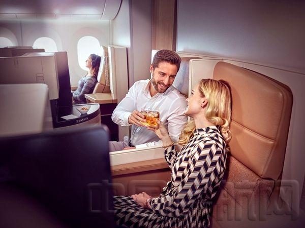 阿提哈德航空波音787飞机客舱