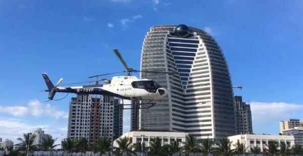 海口开通空中游览航线 空客H125执飞