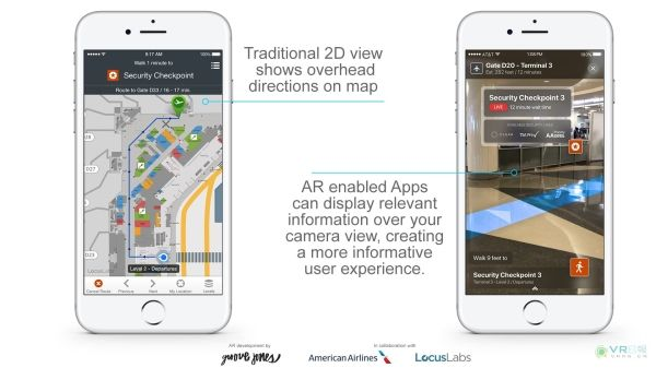 美国航空公司采用ARkit进行机场AR导航