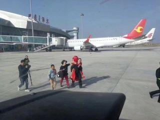 乌拉特中旗机场空中婚礼飞行浪漫起飞