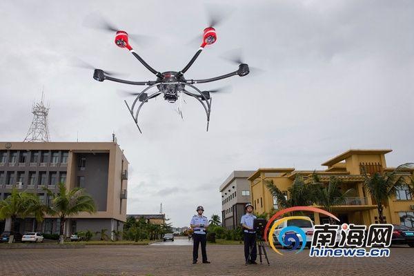 海口边检总站启用无人机开展港口执法执勤