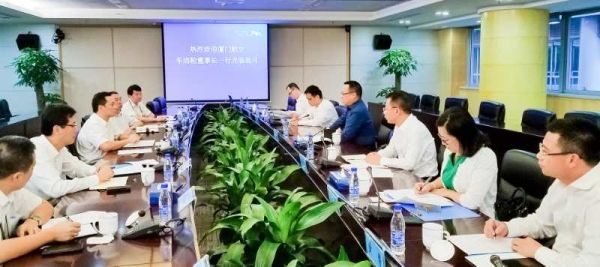 车董一行专程拜会了深圳机场集团董事长罗育德、总经理陈金祖