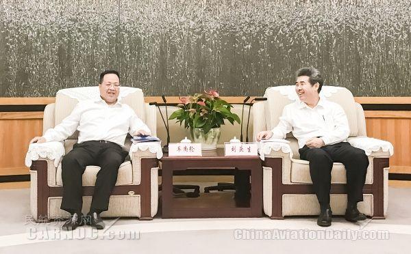 厦航董事长车尚轮率队拜会深圳市委市政府