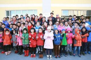 """韩亚航空在内蒙古捐赠第28所""""美丽教室"""""""