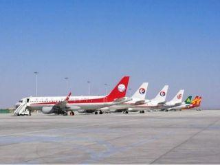 敦煌机场迎来深秋第一波大面积航班备降