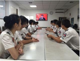 三亚机场组织收看十九大开幕会和总书记报告