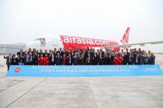 空客亚洲总装线首架A320neo于天津交付亚航