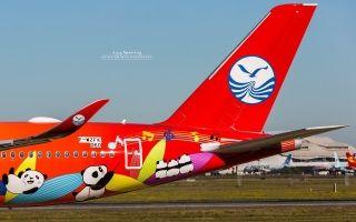 川航首架A350法国图卢兹进行中断飞行测试