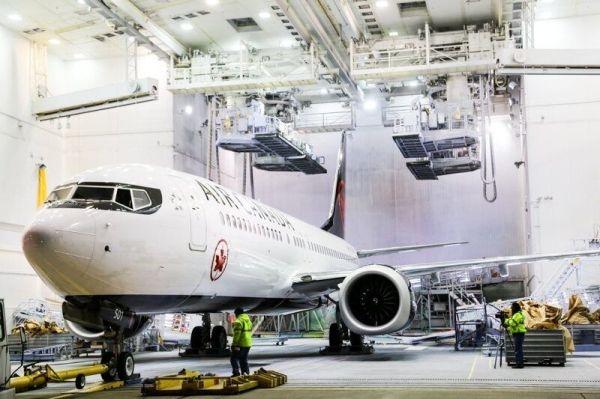 加拿大航空737MAX飞机完成涂装 即将一飞冲天