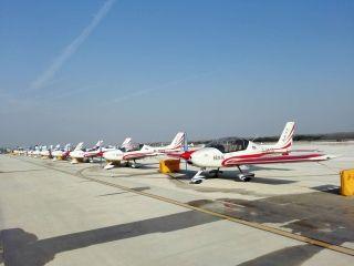 山河科技10架飞机集体出征2017世界飞行者大会