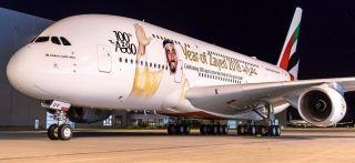 快来围观阿联酋航空第100架A380
