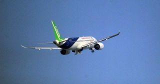 这是C919第五次从浦东机场腾飞
