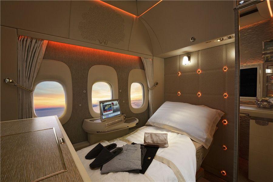 阿联酋航777客机全新头等舱 业内首推虚拟舷窗