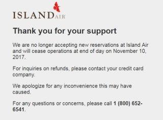 夏威夷Island Air宣布停飞 已连续4年亏损