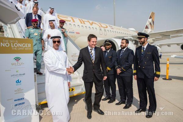阿提哈德航空携三架飞机亮相2017迪拜航展