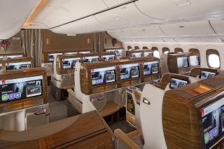 Emirates 777 Business Class cabin