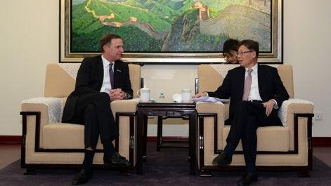 王志清会见美国商务航空协会总裁艾德·博伦