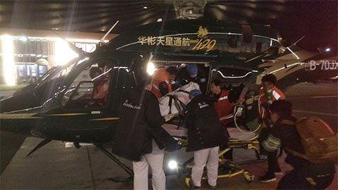河北男童心脏骤停昏迷 直升机紧急转运至北京