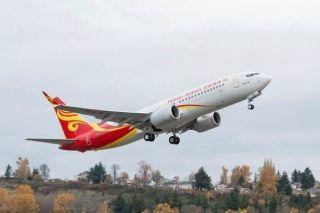 海南航空首架737MAX8首飞海口=北京航线