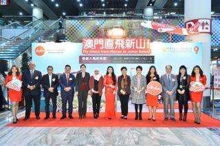 亚洲航空庆贺澳门-马来西亚新山航线正式首航
