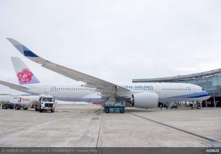 华航接收一架空客A350XWB  交付飞行采用生物燃料