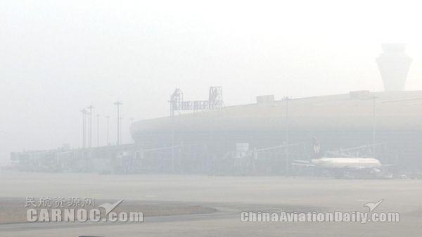 合肥机场今晨受大雾影响 部分航班延误