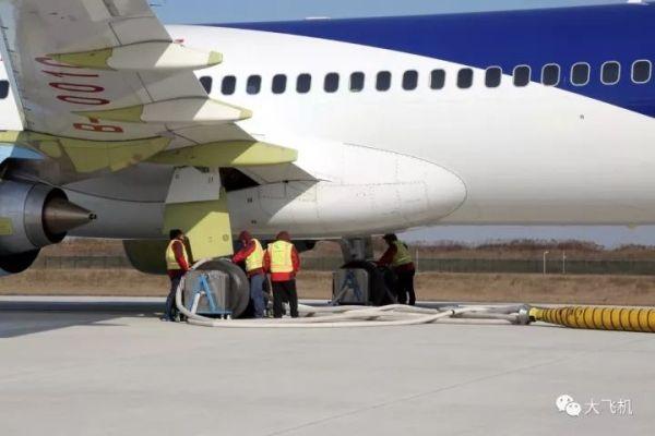 C919飞机102架机开展中速滑行试验!3