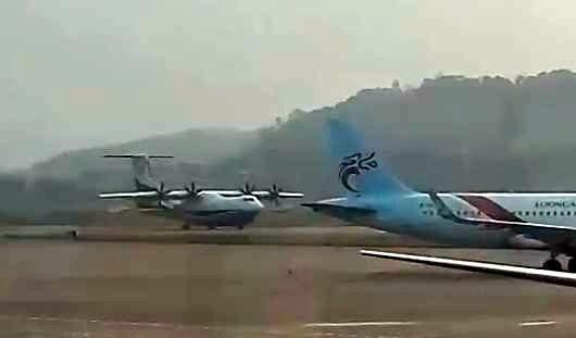 网友拍摄AG600飞机高速滑行场景 距首飞不远