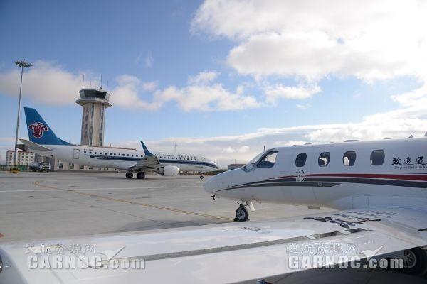 致远通航驻场CJ1高教机。
