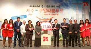 亚航长途吉隆坡—济州岛独家直飞航线正式启航