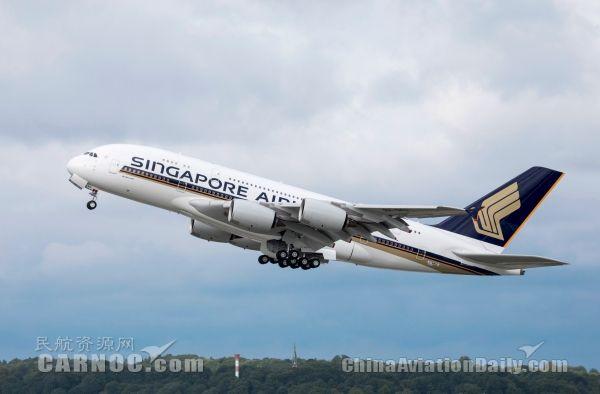 新加坡航空一架A380因故障降落新德里 无人受伤