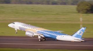 巴航工业安博威E190-E2进行最小速度起飞测试