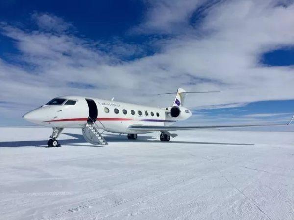 破记录:首架中国公务机降落南极大陆!