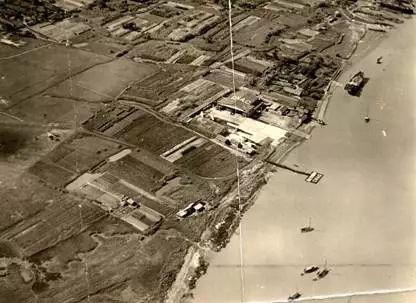 1920年代的龙华机场鸟瞰。图/上观新闻