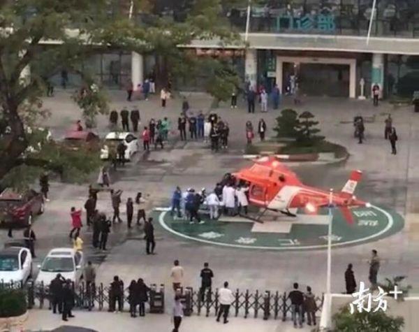 女子树上坠落昏迷不醒 惠州出动直升机救援