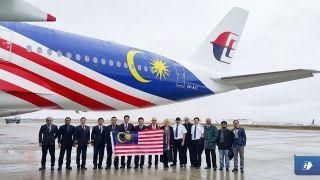 据马来西亚航空官方消息,马航第二架A350XWB交付,飞机是按照马来西亚的国旗进行涂装的。
