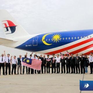 马航第二架A350交付 国旗涂装亮相