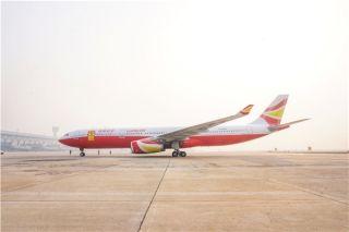 祥鹏航空首架自主引进宽体机A330郑州入关