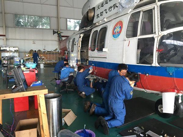 南一飞直升机完成灾后修复工作 顺利调机回珠海