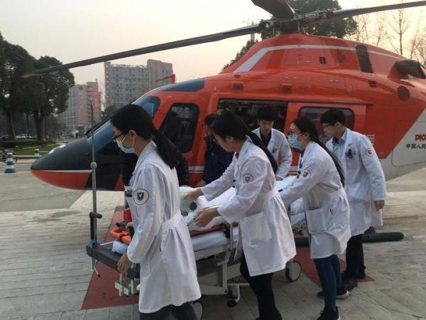 跨越250公里从浙南到浙北 直升机搭起生命通道