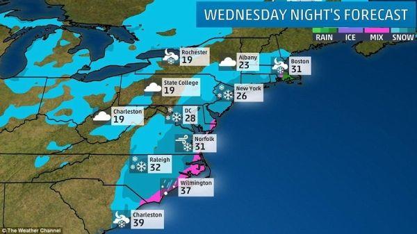 受暴雪影响 美国东海岸地区取消近2800架次航班