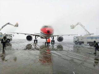 淮安机场积极应对2018年首场降雪